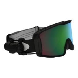Oakley Line Miner Matte Black Snow Goggles with Prizm Inferno Jade Lenses