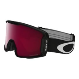 Oakley Line Miner Matte Black Snow Goggles with Prizm Inferno Rose Lenses
