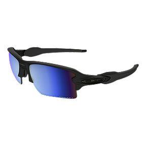c5d7f9779b08 Oakley Flak 2.0 XL Polarized Sunglasses - Matte Black with Prizm Deep Water  Lenses