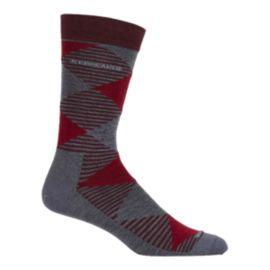 Icebreaker Men's Lifestyle Fine Gauge Crew Argyle Socks