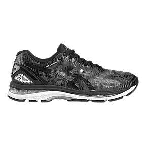 e1728ad54f4b ASICS Men s Gel Nimbus 19 Running Shoes - Black Pattern Silver