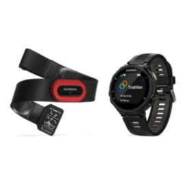 Garmin Forerunner 735XT GPS Running Watch Bundle - Black/Gray
