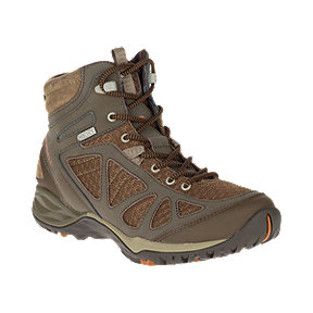 Merrell Women's Siren Q2 Sport Mid Waterproof Hiking Boots - Slate Black