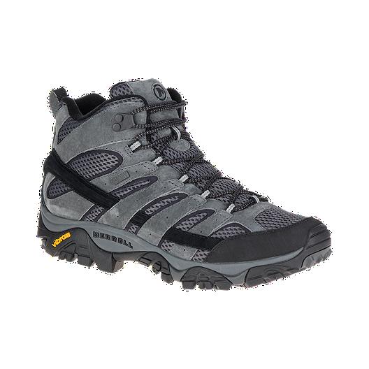 7e9e0a25 Merrell Men's Moab 2 Mid Waterproof Hiking Boots - Granite