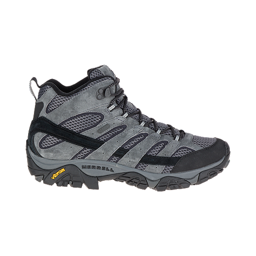 43c8aefb46d Merrell Men's Moab 2 Mid Waterproof Hiking Boots - Granite