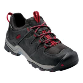 Keen Men's Gypsum II Waterproof Hiking Shoe - Black/Tango