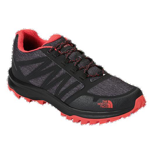 da3628df8 The North Face Women's LiteWave FastPack Hiking Shoes - Black/Grey/Red