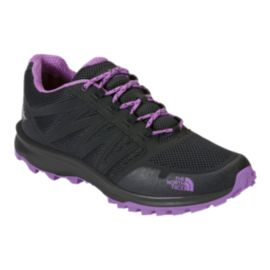 The North Face Women's Litewave Fastpack Waterproof Hiking Shoes - Black/Purple