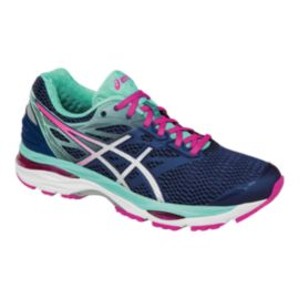ASICS Women's Gel Cumulus 18 Running Shoes - Indigo Purple/Teal/Pink