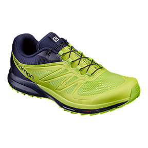 Salomon Men's Sense Pro 2 Running Shoes - Lime Green/Navy Blue