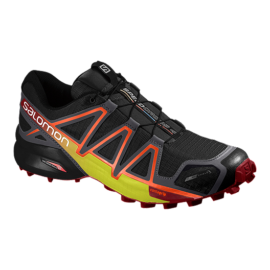 purchase cheap 7d8c9 77363 Salomon Men s SpeedCross 4 CS Running Shoes - Black Red Yellow    Atmosphere.ca