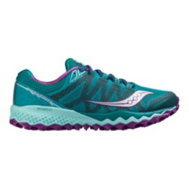Saucony Women's Peregrine 7 Running Shoes - Teal Blue/Purple