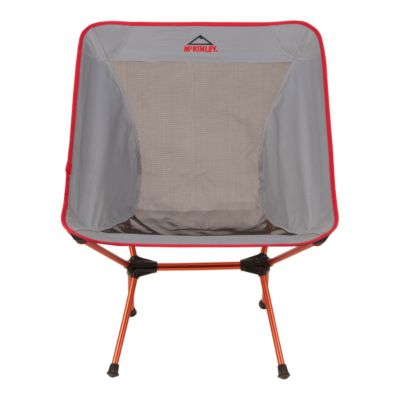 McKINLEY Foldable Chair   Large Grey/Red   GREY/RED