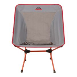 McKINLEY Foldable Chair - Large Grey/Red
