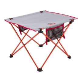 McKINLEY Foldable Table - Large Grey/Red