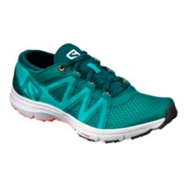 Salomon Women's CrossAmphibian Swift Water Shoes - Peacock/Coral