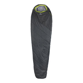 McKINLEY Trekker 32°F/0°C Regular Left Zip Sleeping Bag - Grey/Black