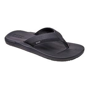 a8f631b0903e Reef Men s Fanning Sandals - Black Brown · Reef Men s Contoured Cushion Flip  Flops - Black