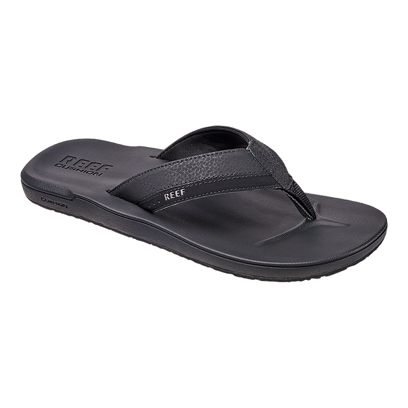 Reef Men S Contoured Cushion Flip Flops Black