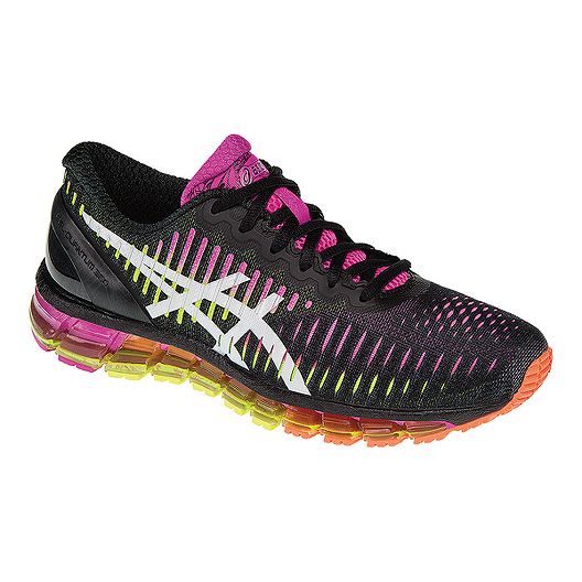 new concept 44a11 02def ASICS Women s Gel Quantum 360 Running Shoes - Black Purple Lime Green    Atmosphere.ca