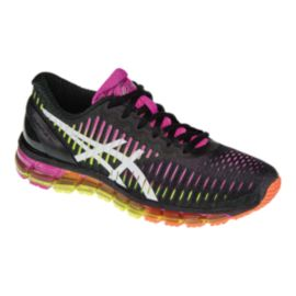 ASICS Women's Gel Quantum 360 Running Shoes - Black/Purple/Lime Green