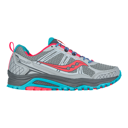 Saucony Women's Excursion TR10 Trail Running Shoes GreyCoral PinkBlue