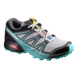 Salomon Women's Speedcross Vario LT Running Shoes - Light Grey/Teal/Black