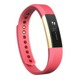 Fitbit Alta Fitness Tracker - Pink/Gold Pebble Small