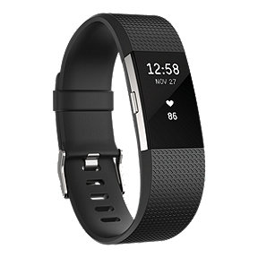 Fitbit Charge 2 Fitness Tracker - Black Large