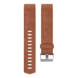 Fitbit Charge 2 Leather Wristband - Brown Large