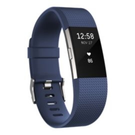 Fitbit Charge 2 Fitness Tracker - Navy Large