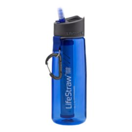 LifeStraw Go Bottle with 2-Stage Filtration - Blue