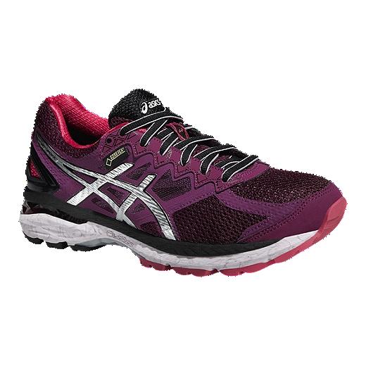Asics Women S Gt 2000 4 Gtx Running Shoes Purple Berry Pink Black