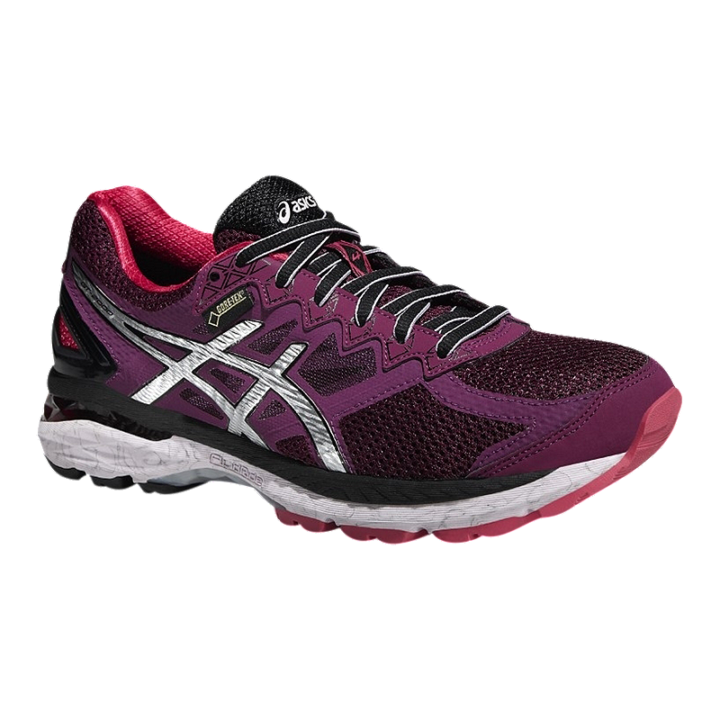 ASICS Women s GT-2000 4 GTX Running Shoes - Purple Berry Pink Black ... 6e6eba4789