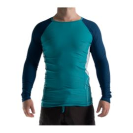 Level Six Mercury Long Sleeve Rash Guard Tight Fit - Laguna Blue