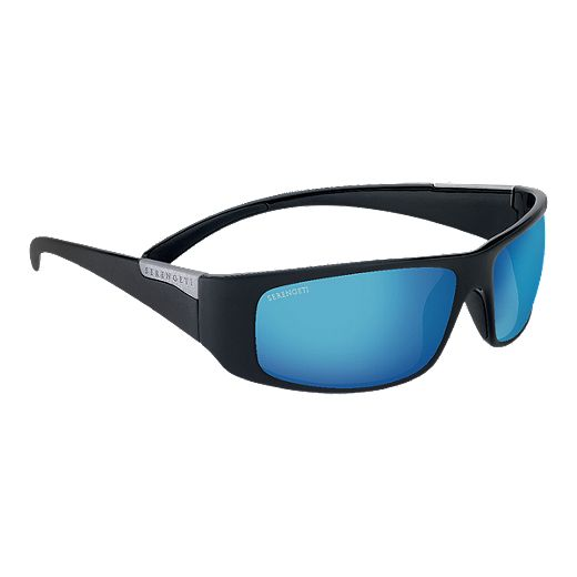 Serengeti Fasano Sunglasses - Black with PhD 555nm Blue Mirror Lenses