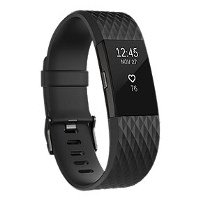 Fitbit Charge 2 Fitness Tracker - Gunmetal Large