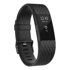 Fitbit Charge 2 Fitness Tracker - Gunmetal Small