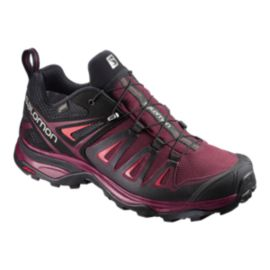 Salomon Women's X Ultra 3 GTX Hiking Shoes - Tawny Port/Black