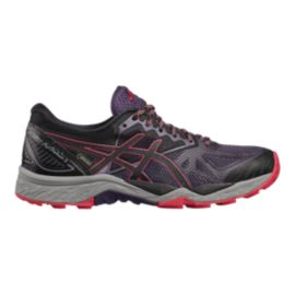 ASICS Women's Gel Fujitrabuco 6 GTX Trail Running Shoes - Black/Purple/Red