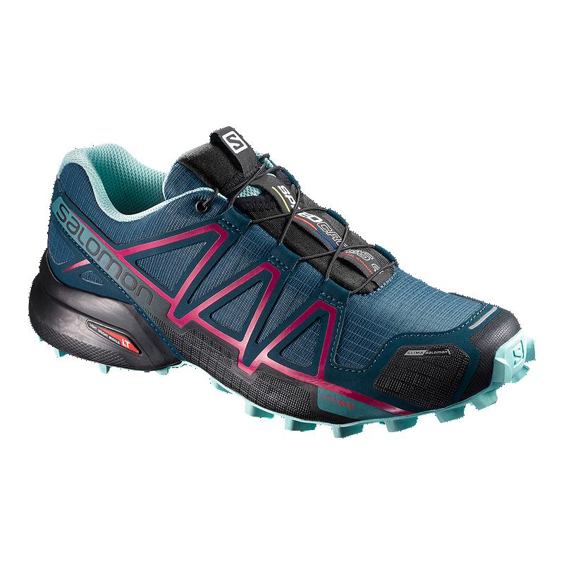 Salomon Women s Speedcross 4 CS Trail Running Shoes - Blue Navy ... 7c814a5ffe