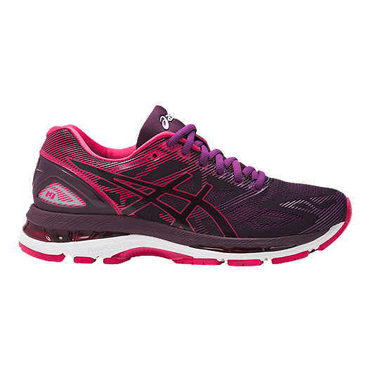 pretty nice bfc67 129d3 ASICS Women's Gel Nimbus 19 Running Shoes - Black/Pink/Purple