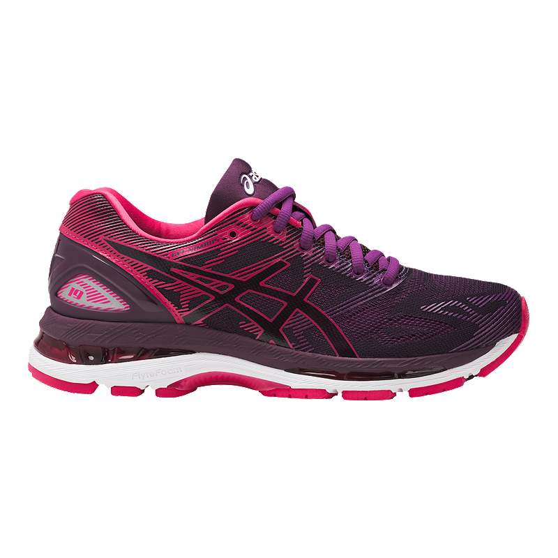 enjoy clearance price attractivedesigns check out ASICS Women's Gel Nimbus 19 Running Shoes - Black/Pink/Purple