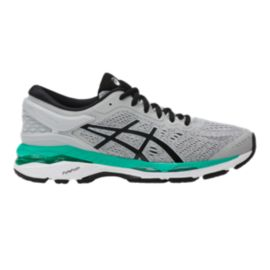 ASICS Women s Gel Kayano 24 Running Shoes - Grey Black Green ... 1a37cf7c6a38