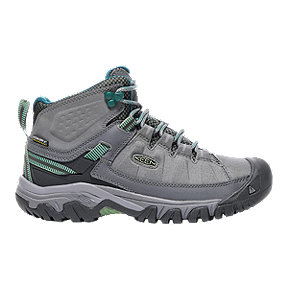 Keen Women's Targhee Exp Mid Waterproof Hiking Shoes - Grey/Basil