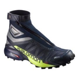 Salomon Men's Snowcross 2 CSWP Trail Running Shoes - Navy/Silver/Green