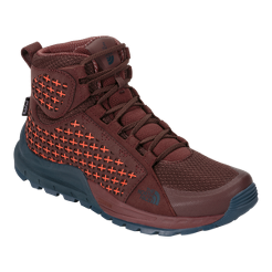 The North Face Women s Mountain Sneaker Mid Waterproof Boots - Brown Orange   c37c1246b