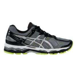 ASICS Men's Gel Kayano 22 Running Shoes - Grey/Silver/Lime