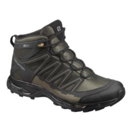 Salomon Men's Pathfinder Mid Waterproof Hiking Boots - Black/Olive