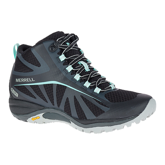 bc9b0acb6c8 Merrell Women's Siren Edge Mid Waterproof Hiking Boots - Black/Teal